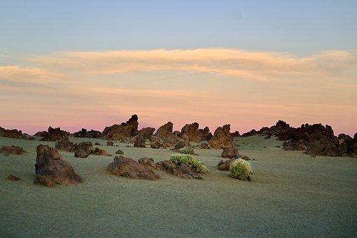 Volcanic Landscape, Stones, Sand, Boulders