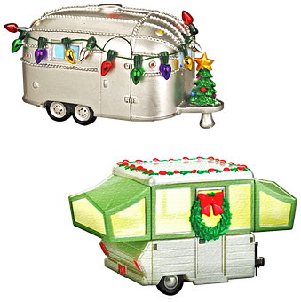 Christmas Trailer, Caravan, Christmas, Travel, Holiday