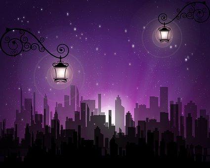 City, Night, Buildings, Lights, Urban, Evening, Modern