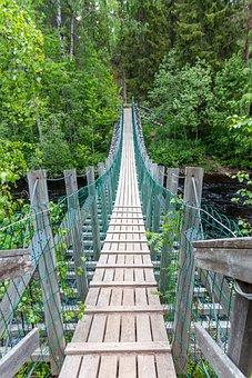 Suspension Bridge, Bridge, Water, Travel, River