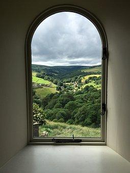 Window, Arch, View, Mystical, Arches, Interior