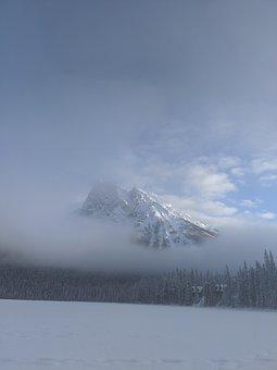 Emerald Lake, British Columbia, Canada, Winter, Snow