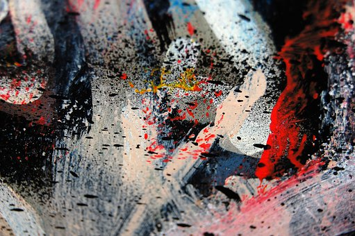Abstraction, The Background, Colors, Paint, Red
