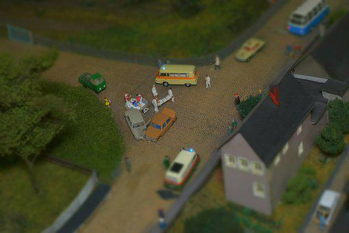 Model Railway System, Detail, Accident, Vehicle, Road