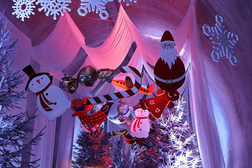 Christmas Decoration In Tunnel, Advent, Snowman, Winter
