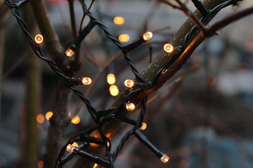 Led Lights, Christmas Decoration, Advent, Street