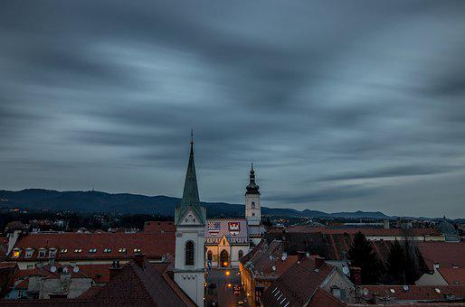 Zagreb, City, Croatia, Europe, Architecture, Cityscape