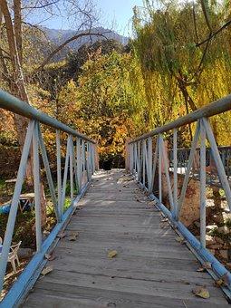 Away, Path, Bridge, Autumn, Morocco