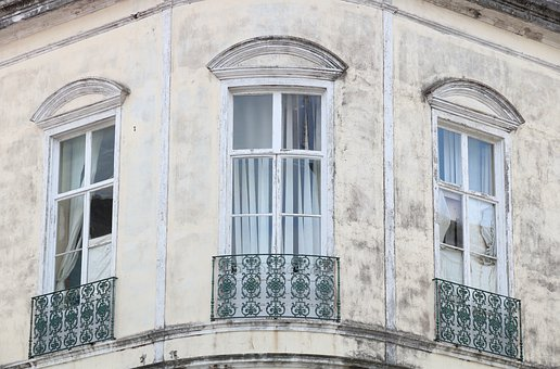 Portugal, Azores, Ponta, Delgada, Window, Balcony
