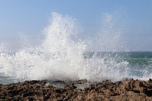 Atlantic, Ocean, Sea, Beach, Landscape, Blue, Holiday