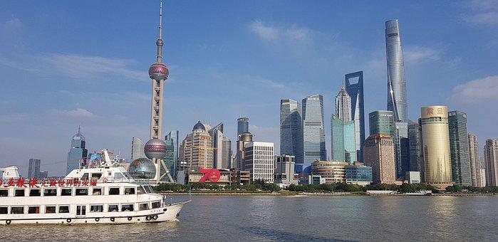 Shanghai, Panorama, China, Skyscraper, Cityscape