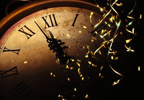 Clock, New Year, 2020, Celebrate, Year, Luck, Happy