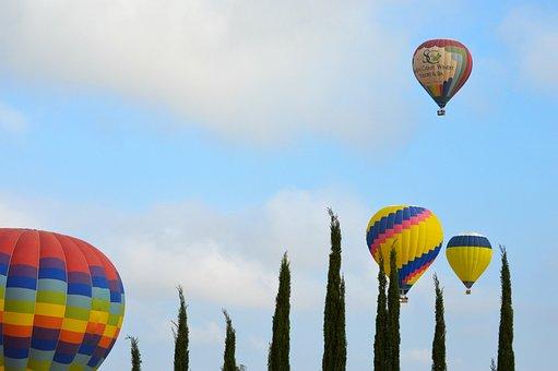 Hot Air Balloons, Sky, Colorful, Adventure, Air
