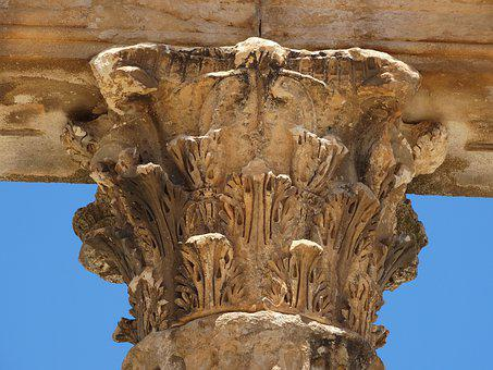 Column, Dugga, Africa, Tunisia, The Romans