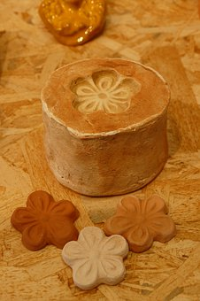 Shape, Mold, Print, Flower, Clay, Pottery, Crafts