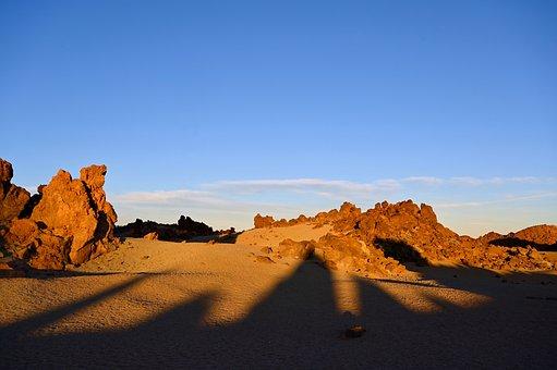Desert, Lunar Landscape, Teide, National Park, Lava