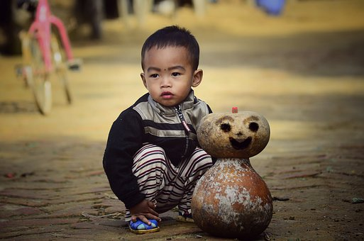 Children, Boy, Play, Doll, Emotions, Seat, Natural
