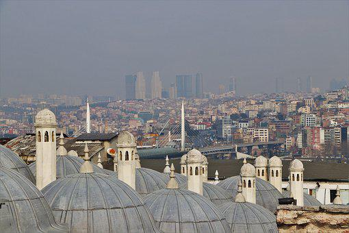 Dome, Istanbul, Cami, Islam, Religion, Turkey, Minaret