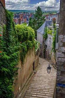 Alley, Historic Center, Blois, France, Houses, Romantic