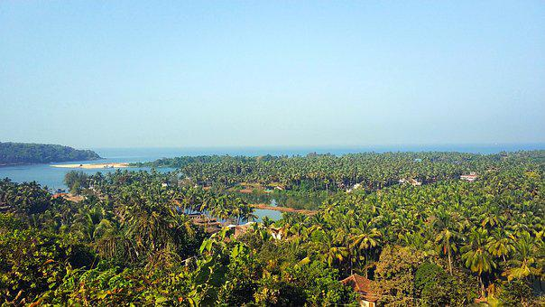 Beach, India, Goa, Cavelosim, Landscape, Skyline, Sand