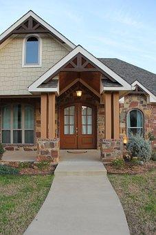 House, Front Door, Door, Architecture, Home, Porch