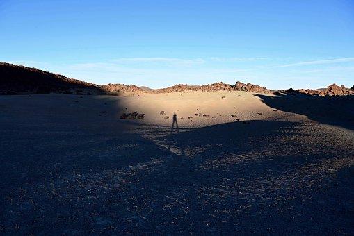 Lunar Landscape, Shadow, Desert, Landscape, Sand, Sky
