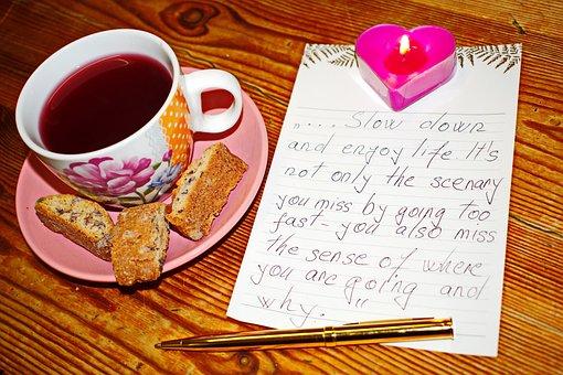 Cup Of Tea, Enjoy Life, Life, Candle