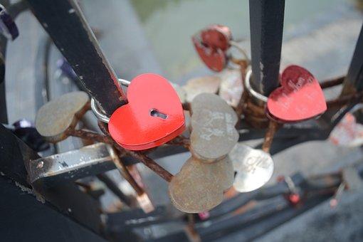 Love, Bridge, Danang, Vietnam, Couple, Key, Lock, Heart