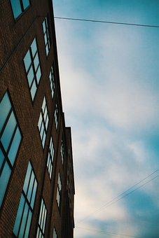 Copenhagen, Air, Mirror, Brick, Building, Industrial