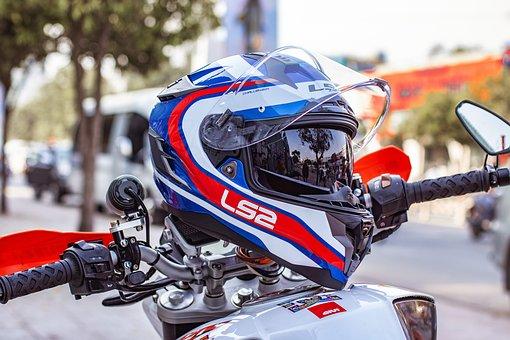 Motorcycle Helmets, Helmets, Motorcycle, Biker, Street