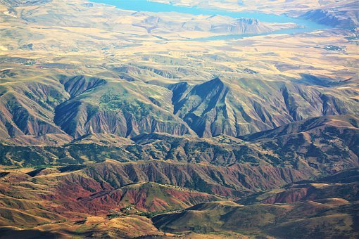 Mountains, Land, High, It's In The Air, Plane, Panorama
