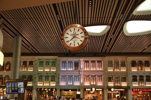 Airports, Clock, Musicals, Walls, Singapore
