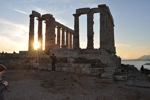 Poseidon, Temple, Sounion, Greece, Mythology, Culture