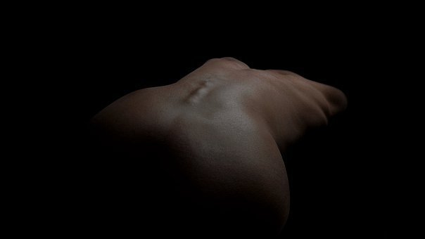 Nude, Back, Body, Ass, Woman, Girl, Naked, Erotic, Skin