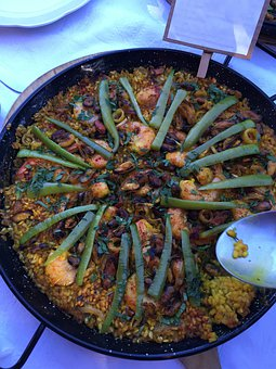 Paella, Eat, Rice, Food, Fry Up, Vegetables, Tasty