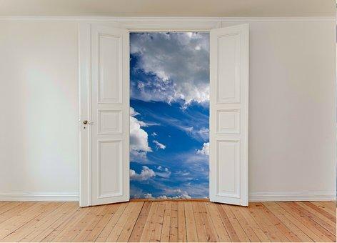 Door, Open, Sky, Freedom, Symbol, Opportunity, Gate