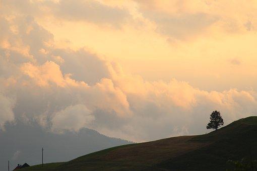 Austria, Alps, Sunset, Sky, Nature