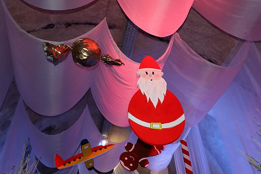 Christmas Decoration In Tunnel, Advent, Candy, Snowman