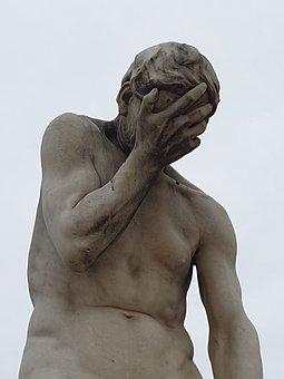 Despair, Jardin Des Tuileries, Paris, Statue