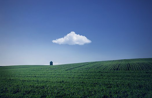 Landscape, Cloud, Sky, Blue, Atmosphere, Green, Windows