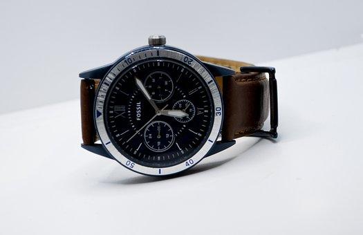 Wrist, Watch, Fossil, Time, Clock