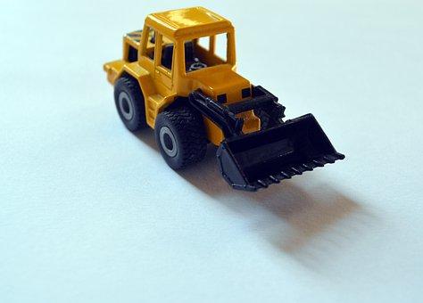 Backhoe, Backhoe Loader, Toy, Miniature, Figurine