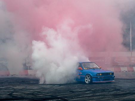 Bmw, Fast, Speed, Drift, Car, Tire, Burn, Smoke