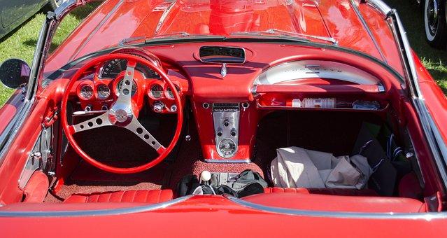 Classic Car, Car, Veteran, Red Picture