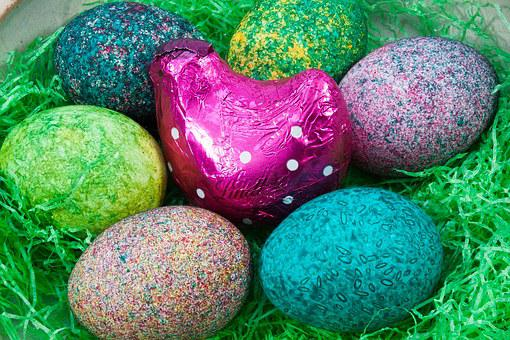 Easter, Easter Nest, Egg, Colored, Hen, Colorful