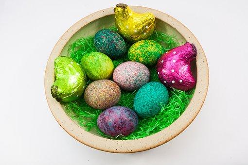 Easter, Easter Nest, Egg, Colored, Hen, Colorful