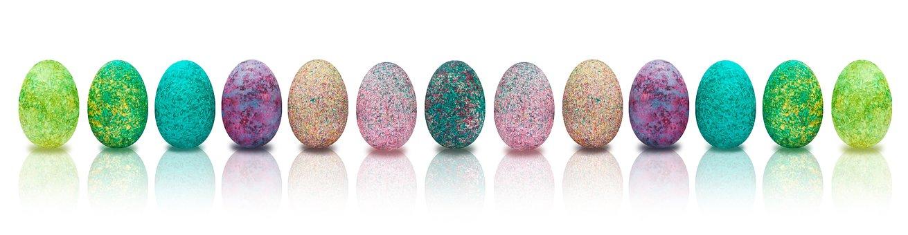 Banner, Easter, Egg, Colored, Colorful, Easter Egg