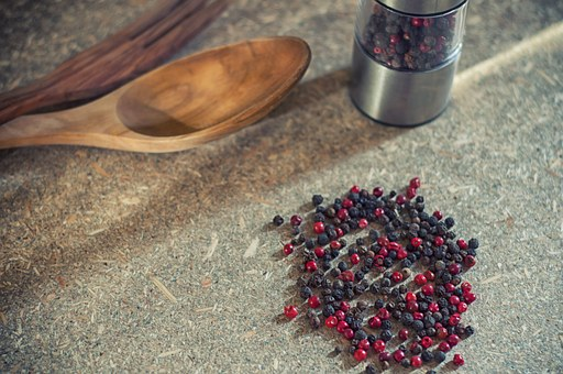 Pepper, Spices, Peppercorns, Forte, Food, Kitchen, Cook