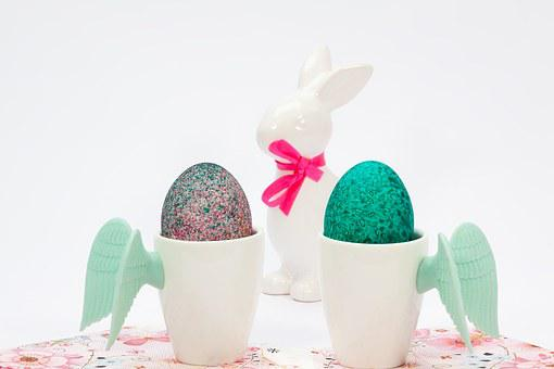 Easter, Cup, Wing, Egg Cups, Easter Bunny, Porcelain