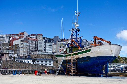 Dry Dock, Maintenance, Ship, Hull, Steel, Dockyard